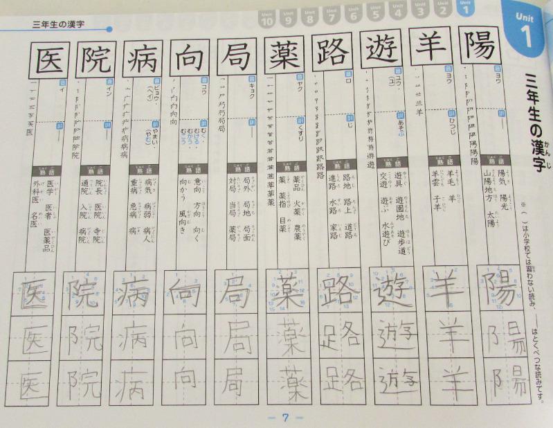 隂山式の漢字練習法2-1