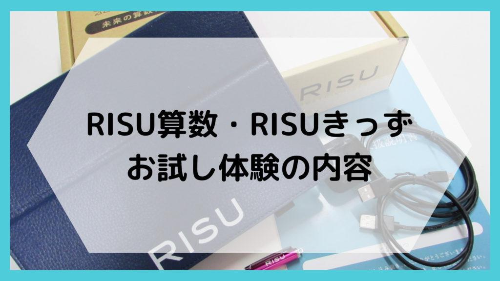 RISU算数・RISUきっずのお試し体験内容
