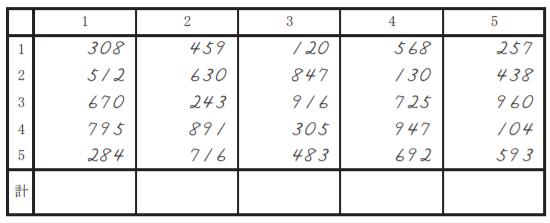 暗算3級問題 1